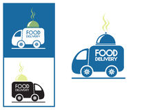 Logo design element Food delivery service Royalty Free Stock Photos