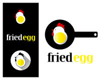 Logo design element Fried egg Stock Image