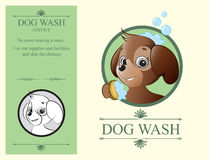 Logo design element Wash Dog Service Stock Photography