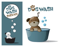 Logo design element Wash Dog Service Royalty Free Stock Image