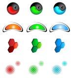 Logo design elements. Three colours Royalty Free Stock Photo