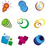 Logo design elements. Set of abstract logo elements/symbols Stock Photos