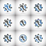 Logo design elements,gears Stock Photography