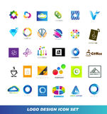 Logo design elements icon set royalty free illustration