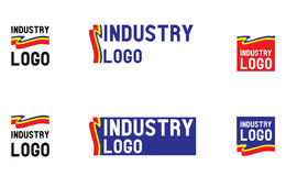 Logo design elements set. Logo for forwarding, transport, mail, courier services, textile big conglomerate of industry. Vector logo, color and text is editable Stock Images