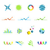 Logo design elements set Royalty Free Stock Image