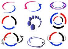 Logo and design elements. Set of colorful design elements isolated on white Royalty Free Illustration