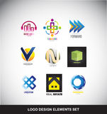 Logo design elements set icon