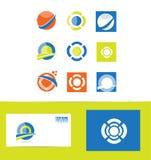 Logo design elements set. Vector company logo icon element template set corporate business Vector Illustration