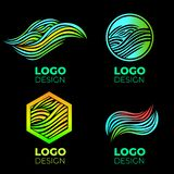 Logo design elements set stock image