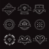 Logo design elements. Vintage retro style. Arrows Royalty Free Stock Photo