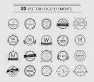Logo design elements. Vintage retro style. Arrows Royalty Free Stock Photos