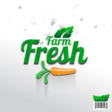 Logo design of Farm Fresh with carrot Royalty Free Stock Image