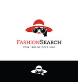 Logo design for fashion site or travel related business Royalty Free Stock Images