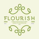 Logo design floral. Simple floral monogram  design template, Elegant lineart logo design Stock Image