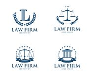 Vector logo design illustration for law firm business, attorney, advocate, court justice. This is  logo design illustration perfectly for branding like law firm Royalty Free Stock Photo