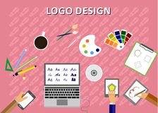 The logo design Royalty Free Stock Image