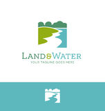 Logo design for land and water related business Royalty Free Stock Image