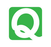 Logo design with letter Q Stock Photo