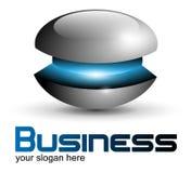 Logo design metallic sphere Stock Photo