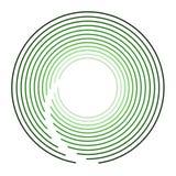 Logo Design moderno verde circular ilustração stock