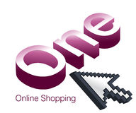 Logo Design for Online Shopping website Stock Images