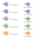 Logo design for ophthalmologist Stock Images