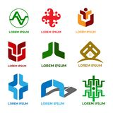 Business and Industrial Logo Design pack vector illustration