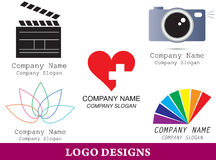 Logo design pack Stock Images