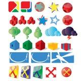 Logo for design part 2. Logo for design, illustration or games Stock Photography