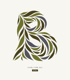 Logo design from petals, leaves, abstract letter B. Stock Photos