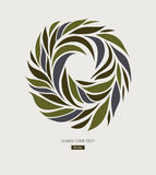 Logo design from petals, leaves, abstract round form. Stock Images