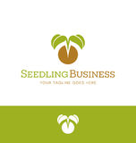 Logo design for plant nursery, organic farming, vegan Royalty Free Stock Photography