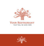 Logo design for a restaurant or food related business Royalty Free Stock Image