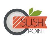 Logo design for restaurants of Japanese food Stock Photos