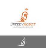 Logo design of a robot character Stock Photos