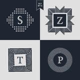 Logo-Design-Schablonen eingestellt Firmenzeichenelemente Sammlung, Ikonen-Symbole Lizenzfreies Stockfoto