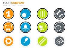Logo design set. A logo design set of different symbols in circles Royalty Free Stock Photography
