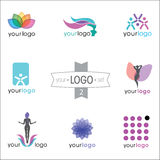Logo design set. Modern logo design set: logotypes for different companies Vector Illustration
