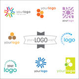 Logo design set. Modern logo design set: various logotypes for different companies Royalty Free Illustration