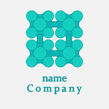 Logo design square and dots. Modern technology concept Royalty Free Stock Image