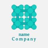 Logo design square and dots. Modern technology concept. Vector design illustration royalty free illustration