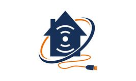 Logo Design Template à la maison en ligne Images libres de droits