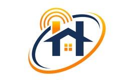 Logo Design Template à la maison en ligne Photographie stock libre de droits