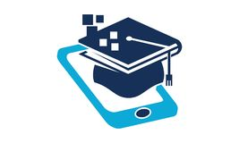 Logo Design Template de étude mobile Photo stock
