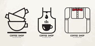 Logo design  template.Hot drinks mug Logotype concept icon. Royalty Free Stock Images