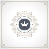 Logo Design Template real floresce Foto de Stock Royalty Free