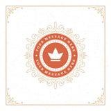 Logo Design Template reale fiorisce Fotografia Stock Libera da Diritti