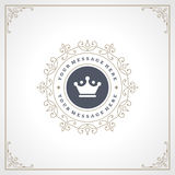 Logo Design Template royal s'épanouit Photo libre de droits