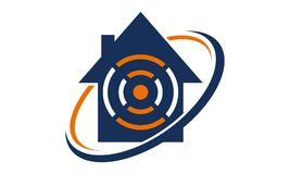 Logo Design Template Vector à la maison en ligne Photos stock